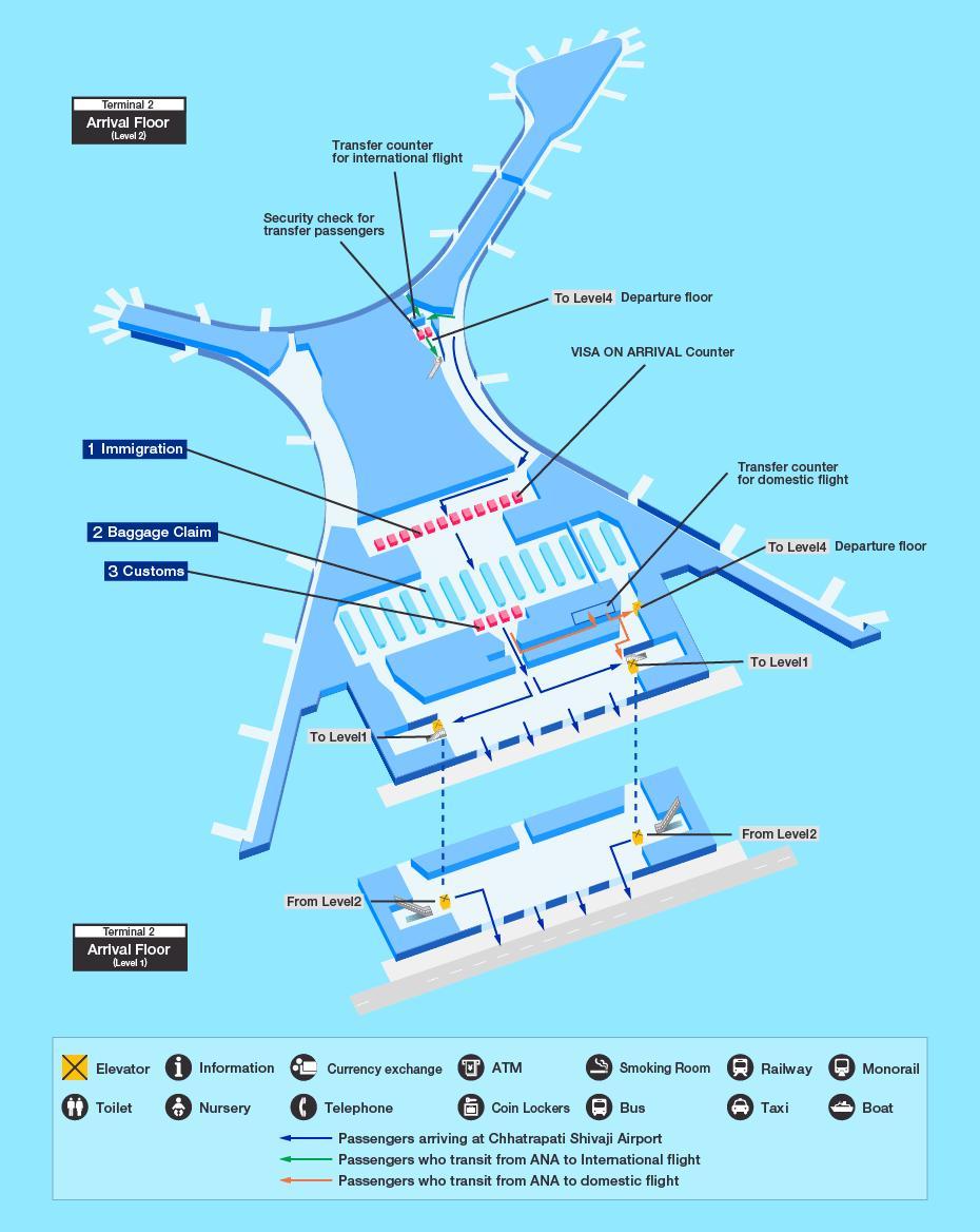 Bandara internasional Mumbai peta - Peta dari bandara ...